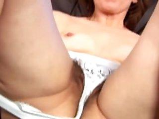 Middleaged Mylene masturbates