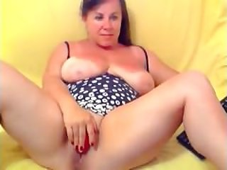Busty mature Housewife Marianne on home..