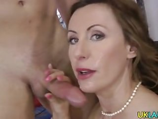 Spitroasted milf creamed
