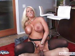 Busty blonde Alura Jenson fuck her..