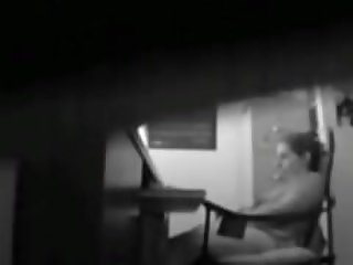 Spying my mom fingering at her desk