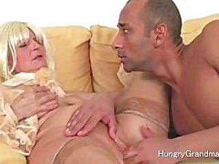 Granny vagina hot foreplay