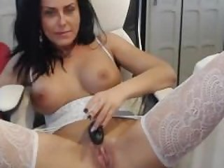 White stockings mommy fuck herself pussy..