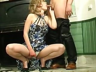 Horny young guy fucks mature housewife 08
