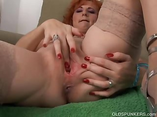 Sexy old spunker is a squirter when she..