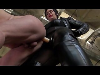 Mature Mistress fucks Male Pig by..