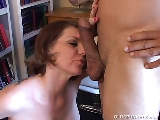 Beautiful busty MILF loves to suck your..