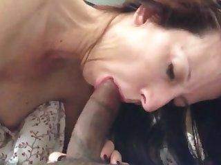 Hot mature brunette sucks again