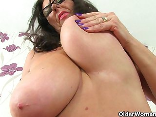 British mature secretaries Lulu Lush and..