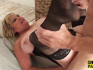 Mature british sub gets BDSM sex..
