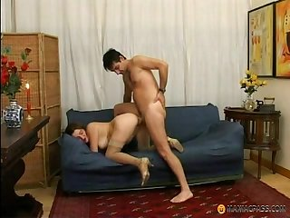 Mature maid takes it in the ass