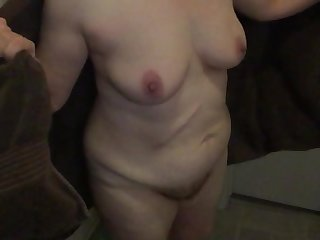 Sexy Mormon wife showers and dries
