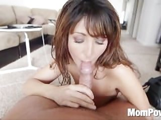 Milf sucks strokes and takes a facial