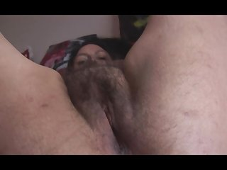 Busty mature English lady with big hairy..