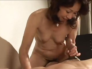 Japanese Mature Gets Creampied..