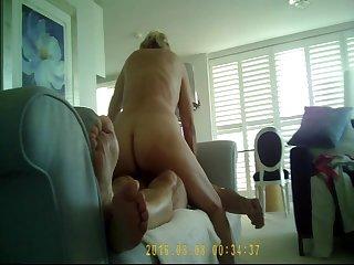 SEXY BLONDEGRANNY THRUSTING TO ORGASM..