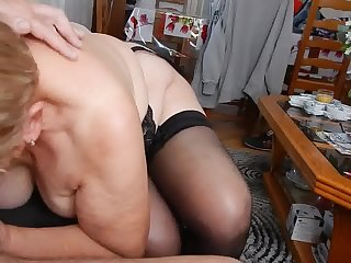 Lovely grandma's blowjob