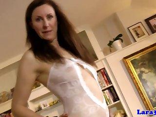 Classy british milf in stockings..