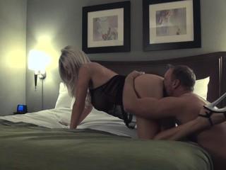 Blonde in hotel