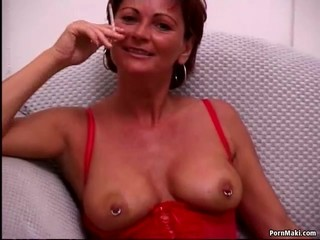 Busty mature tries Anal