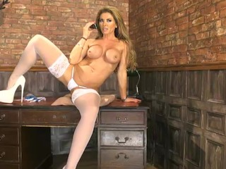 Lynda Leigh White Stockings & Heels