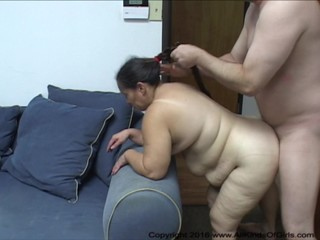 Big Butt Mexican BBW Granny Maid Gets..