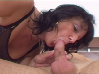 old & young - stepmom wakes stepson..