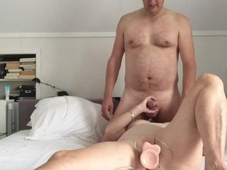Wife and friend love to play a little