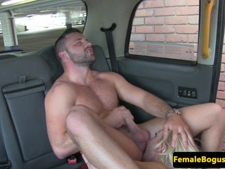 Mature female taxidriver drenched in cum