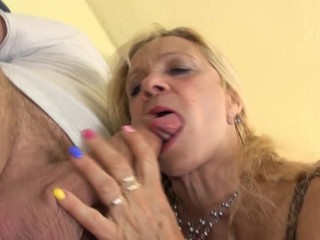 Grannies suck and fuck young cocks